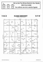 Blaine Township, Hackberry Creek, Directory Map, Antelope County 2006